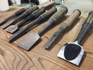在来工法の大工によるノミ&包丁研ぎワークショップ by 海岸屋ふー